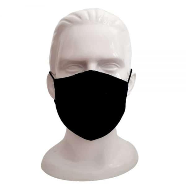 Lleva 20 paga 10 Tapabocas lavables tela antifluido Negro | Opción bordado o estampado