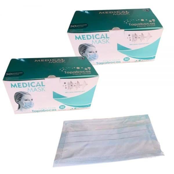 2 Cajas Lleva 100 paga 50 Tapabocas termosellados 3 capas INVIMA | Empaque Individual