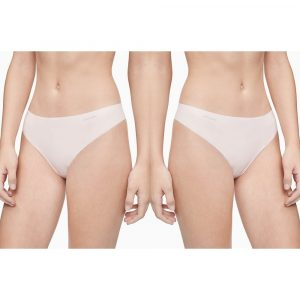 Pack 2 Tangas Mujer Calvin Klein Invisibles Thong Nymphys Thigh | Original