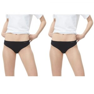 Pack 2 Tangas Mujer Calvin Klein Invisibles Thong Negra | Original