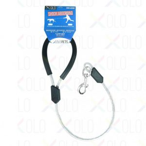 Correa Reforzada para Mascotas con Cable de Acero y Gancho de Seguridad | 80 cm