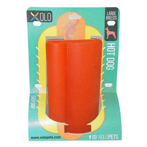 Juguete dispensador de golosinas para perros razas grandes | Hot dog