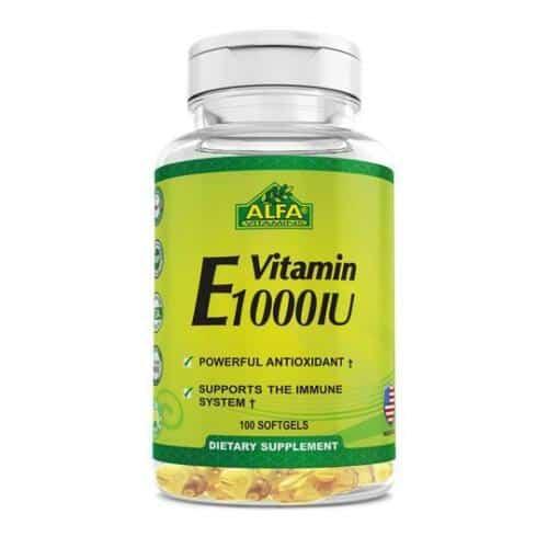 Suplemento Alfa Vitaminas E cápsulas blandas 1000IU   100unidades