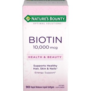 Biotina Nature's Bounty 10,000 mcg | 90 Tabletas