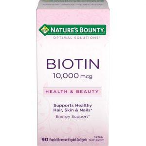 Biotina Nature's Bounty 10,000 mcg | 90 Tabletas