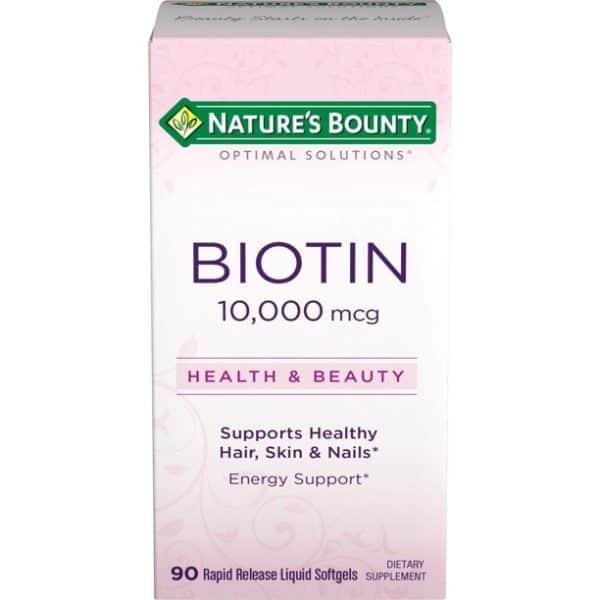 Biotina Nature's Bounty 10,000 mcg   90 Tabletas