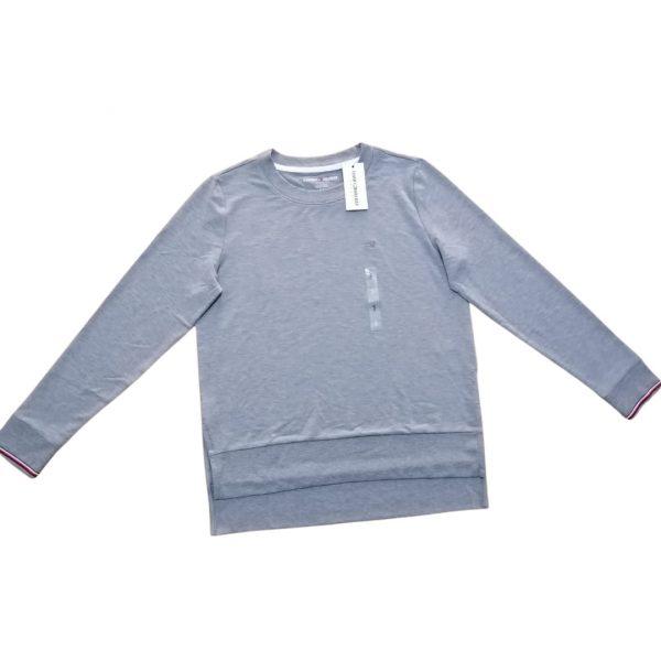 Buzo Mujer Tommy Hilfiger Essential Stripe Cuff Top Grey Light | Original