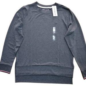 Buzo Mujer Tommy Hilfiger Essential Stripe Cuff Top Grey Heather | Original