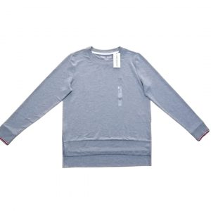 Buzo Mujer Tommy Hilfiger Essential Stripe Cuff Top Grey Heather | Original