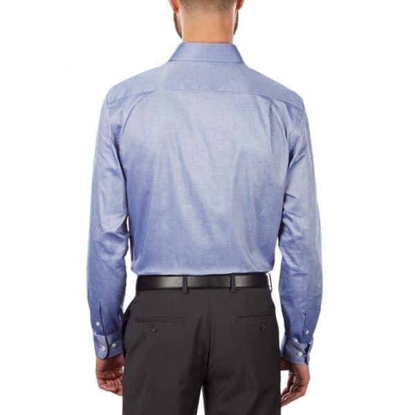 Camisa Manga Larga Hombre Tommy Hilfiger Stretch Solid Dress Shirt Navy   Original