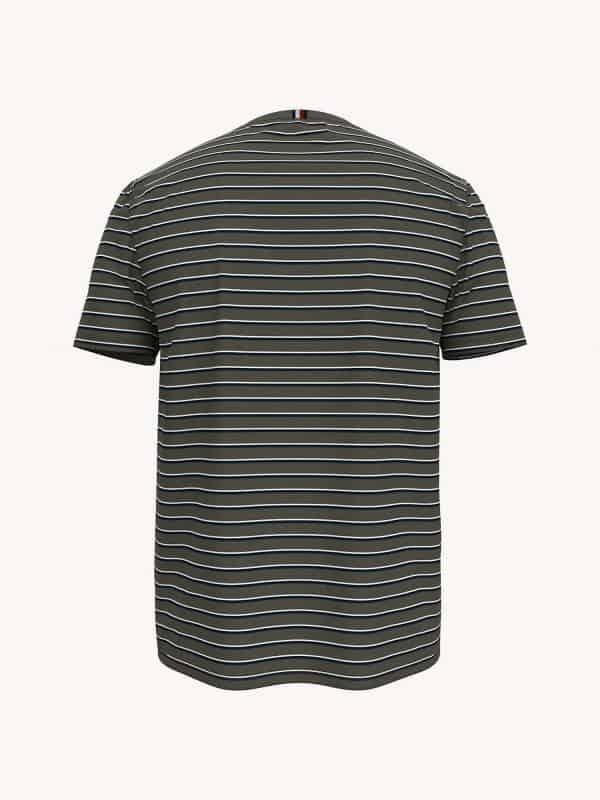 Camiseta Hombre Tommy Hilfiger Essential Stripe Pocket Army Green   Original