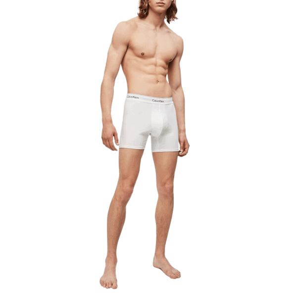 Pack 3 Bóxers Hombre Calvin Klein Cotton Stretch Cooling Brief White | Original